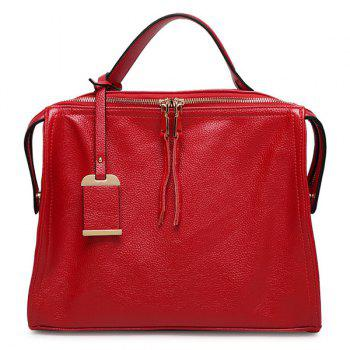 Stylish Pendant and PU Leather Design Women's Tote Bag