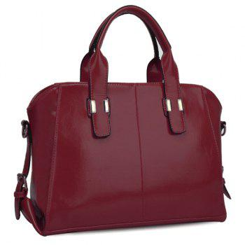 Trendy Buckles and PU Leather Design Women's Tote Bag