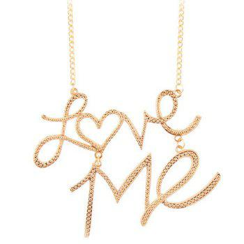 Punk Style Love Me Heart Shaped Necklace
