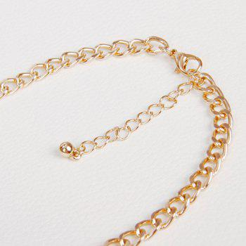 Alloy Hollow Out Triangle Necklace -  GOLDEN