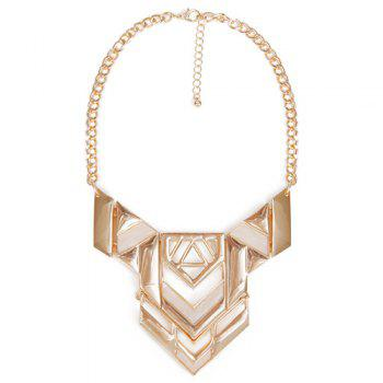 Alloy Hollow Out Triangle Necklace - GOLDEN GOLDEN