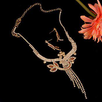 A Suit of Floral Wedding Jewelry Set -  GOLDEN