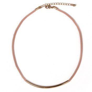 Alloy Mesh Choker Necklace - PINK PINK