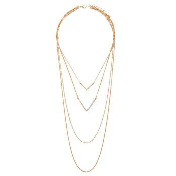 Gorgeous Multilayered V-Shaped Sweater Chain For Women - GOLDEN GOLDEN