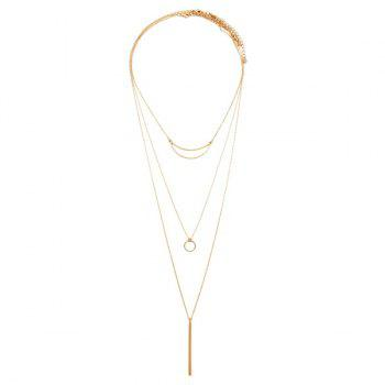 Charming Multilayered Moon Bar Sweater Chain For Women