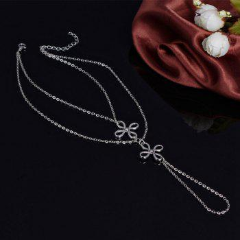 Retro Multilayer Hollow Out Chinese Knot Anklet For Women