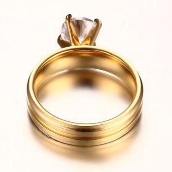 Zircon Prong Setting Ring - GOLDEN