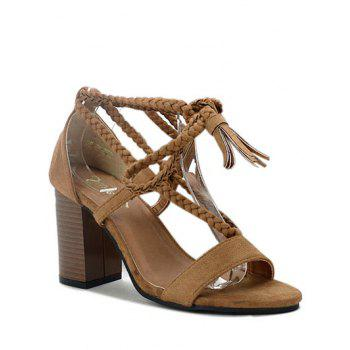 Trendy Tassel and Lace-Up Design Sandals For Women