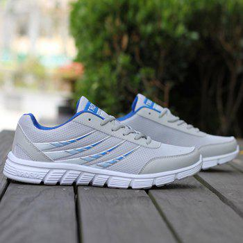 Trendy Hit Colour and Breathable Design Men's Athletic Shoes - BLUE/GRAY 41