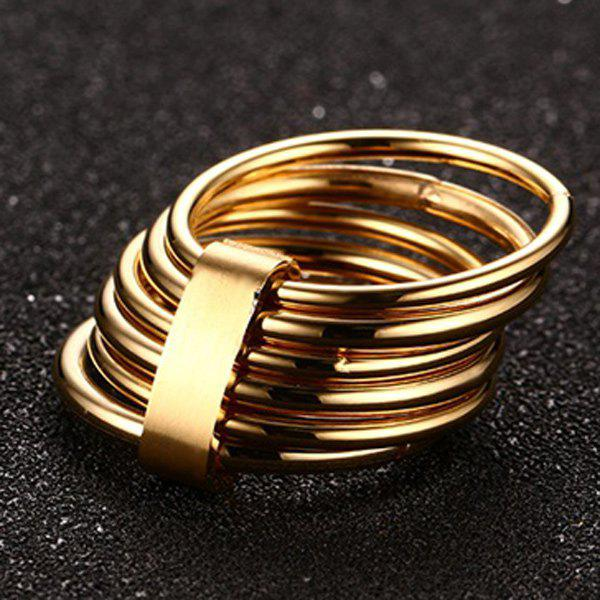 Modern Solid Color Multilayered Ring For Women