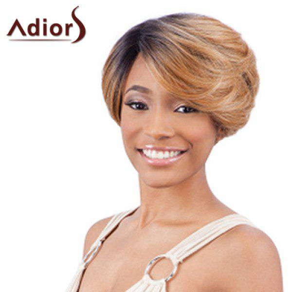 Stylish Adiors Side Bang Ombre Short Women's Wig