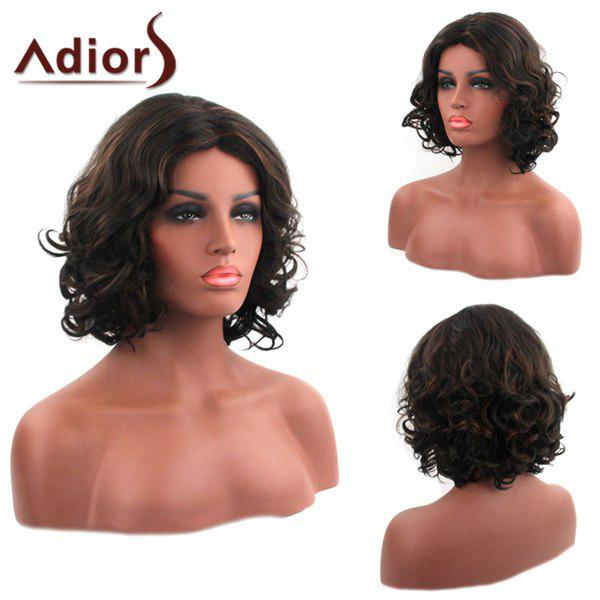 Attractive Synthetic Centre Parting Medium Fluffy Curly Capless Women's Adiors Wig attractive long red capless fluffy curly women s synthetic adiors wig