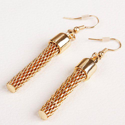 Pair of Multilayered Embellished Alloy Earrings - GOLDEN