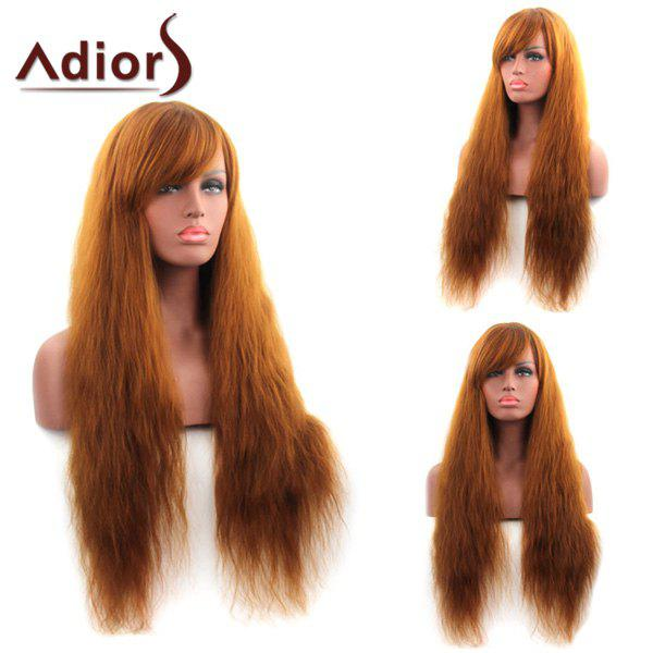 Sophisticated Synthetic Capless Long Yaki Straight Side Bang Adiors Wig For Women