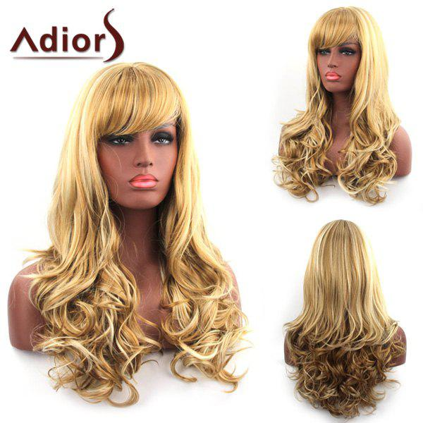 Sparkling Side Bang Synthetic Long Fluffy Wavy Capless Adiors Wig For Women