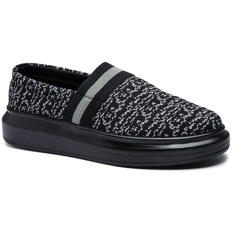 Concise Slip-On and Black Design Men's Casual Shoes - BLACK 41