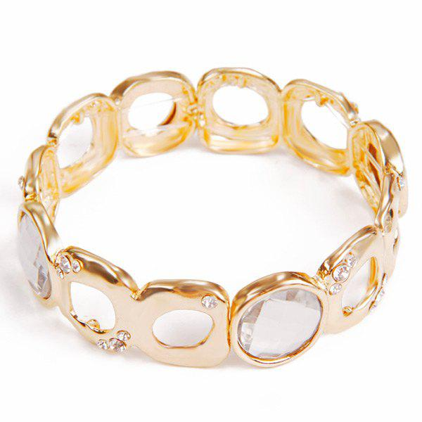 Delicate Faux Crystal Round Elasticity Bracelet For Women