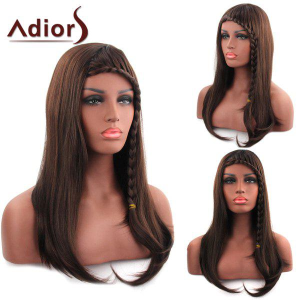 Sweet Long Straight With Braid Synthetic Tail Adduction Women's Capless Adiors Wig