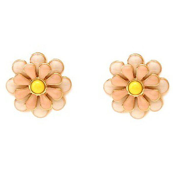 Pair of Blossom Stud Earrings - GOLDEN