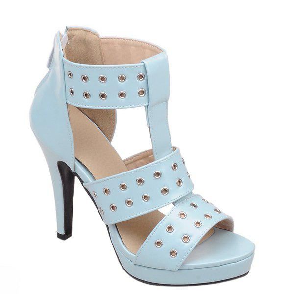 Fashionable Hollow Out and Zipper Design Women's Sandals
