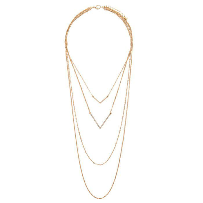 Gorgeous Multilayered V-Shaped Sweater Chain For Women