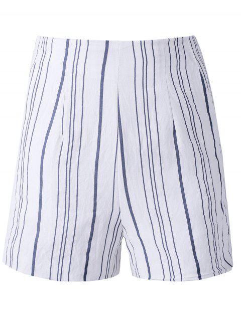 Irregular Stripe taille haute shorts d 'Fashion Woman - multicolore L