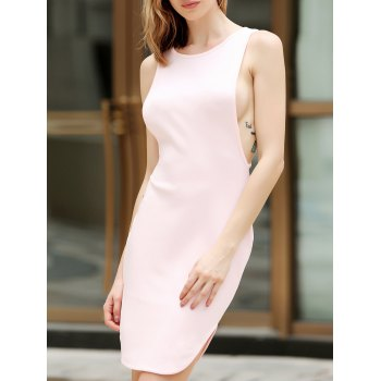 Sexy Women's U-Neck Knitted Tank Dress