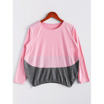 Women's Relaxed Plus Size Colormatching Long Sleeve T-Shirt