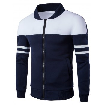 Stand Collar Long Sleeves Jacket