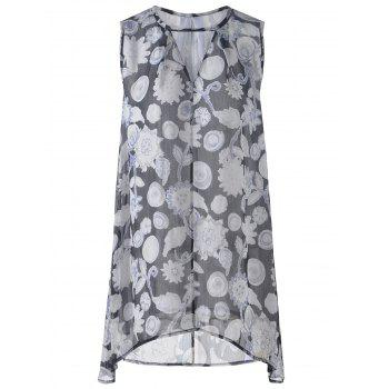 Fashionable Women's Loose-Fitting V-Neck Floral Print Mini Dress