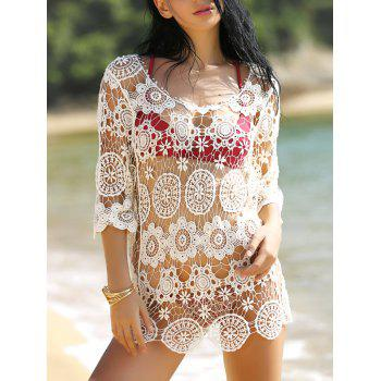 Crochet Hollow Out Knitted Swimsuit Cover-Up