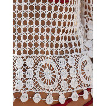 Lace Crochet Hollow Out Cover Up - WHITE ONE SIZE(FIT SIZE XS TO M)