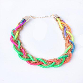 Stylish Chic Women's Fluorescence Color Braided Necklace