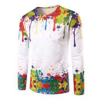 Colorful Splatter Paint Printing T-Shirt