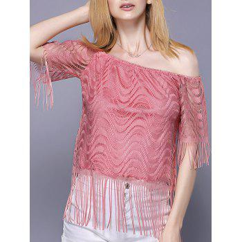 Off The Shoulder Tassel Embellished Women's Top