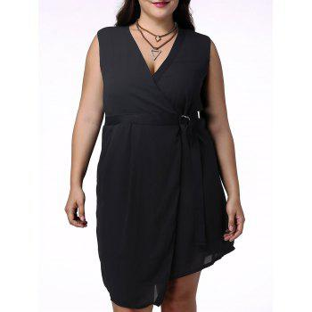 Stylish Women's Plunging Neck Sleeveless Wrap Dress