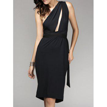 One-Shoulder Cutout Multiway Wrap Backless Dress
