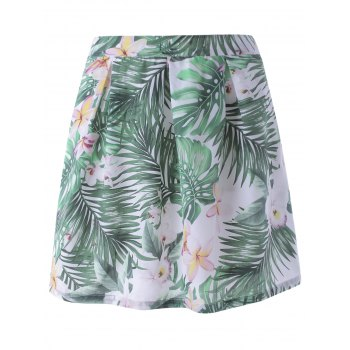 Stylish Floral Print A- Line Skirt  For Women