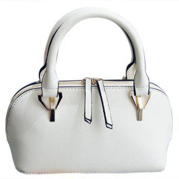 Stylish Metallic and Solid Colour Design Women's Tote Bag