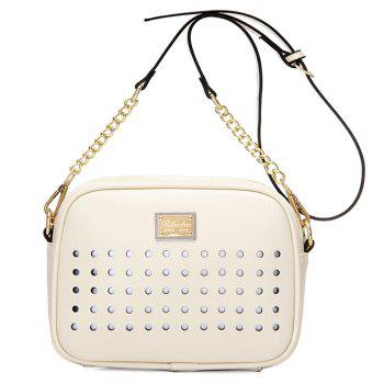 Trendy Hollow Out and Chains Design Women's Crossbody Bag