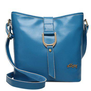Simple Letter and Solid Color Design Women's Crossbody Bag