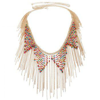 Buy Ethnic Style Beads Decorated Tassels Belly Chain Women GOLDEN