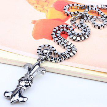 Punk Style Skull Box Chains Necklace - SILVER