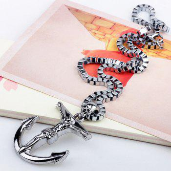 Punk Style Skull Anchor Box Chains Necklace - SILVER