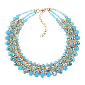 Multilayered Beads Necklace - BLUE BLUE