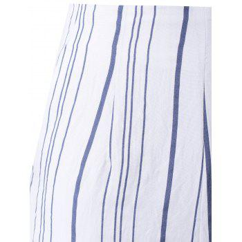 Irregular Stripe taille haute shorts d 'Fashion Woman - multicolore XL