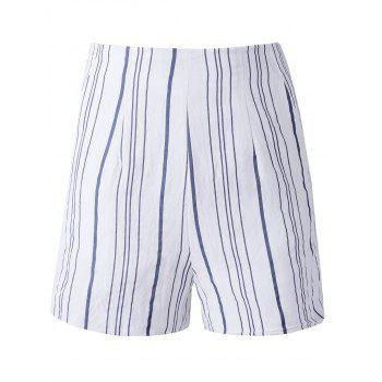Fashion Woman's Irregular Stripe High Waist Shorts