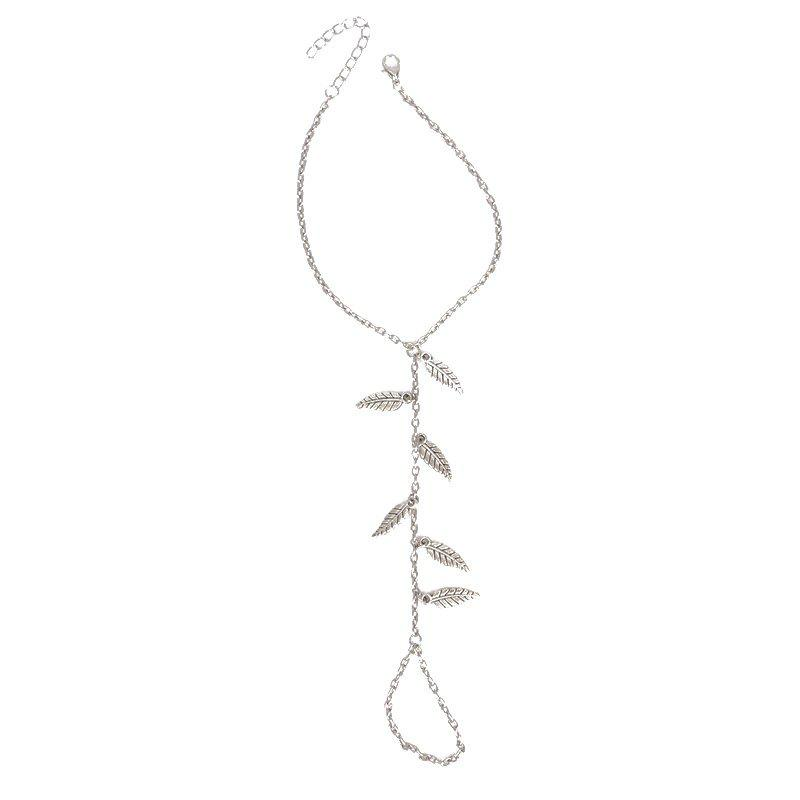 Alloy Leaves Pendant Toe Ring Anklet