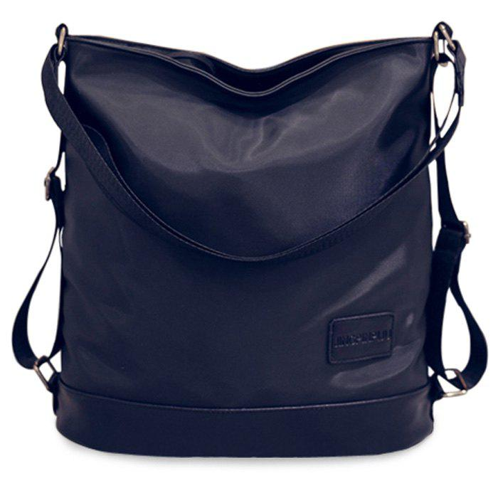 Leisure Black Color and Nylon Design Women's Satchel - BLACK