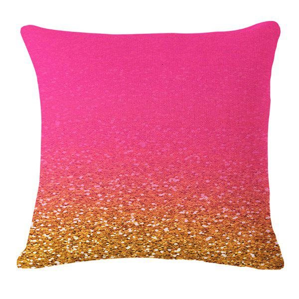 Stylish Gold Paillette Pattern Square Shape Flax Pillowcase (Without Pillow Inner)